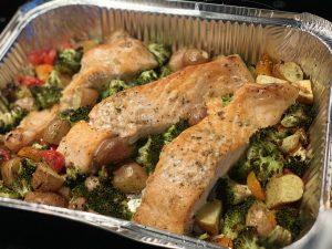 Za'atar zalm met krieltjes en groente